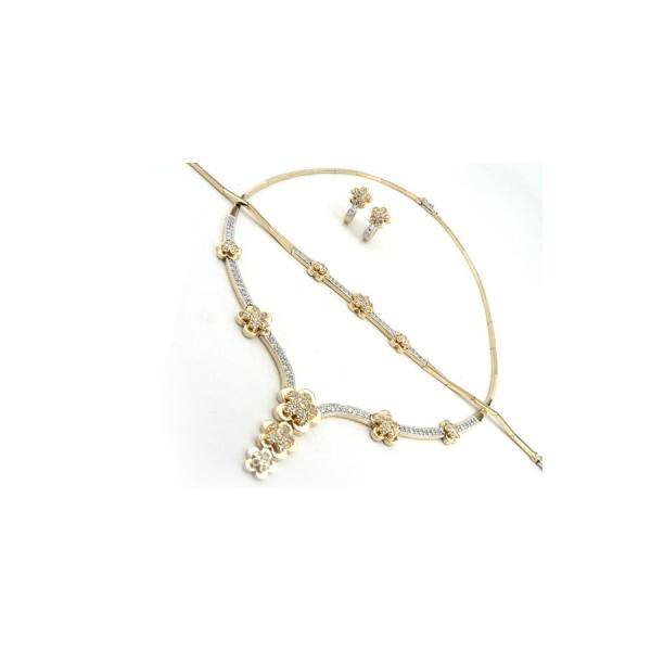 Juwelier Gerresheim 585 Gold Komplett Set massiv